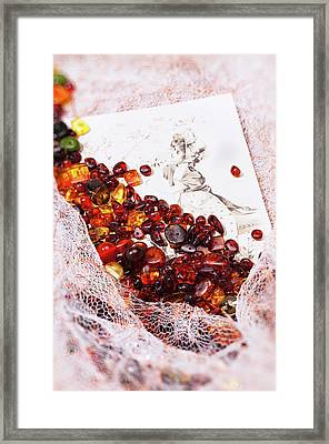 Framed Print featuring the photograph Amber #8925 by Andrey  Godyaykin