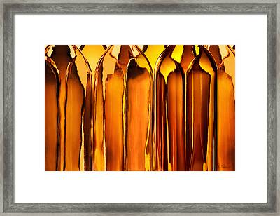 Amber Abstraction Framed Print