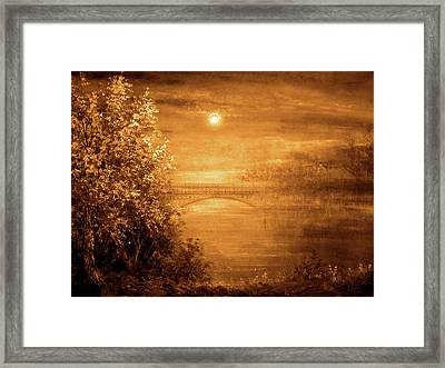 Amber Bridge Framed Print by Ann Marie Bone