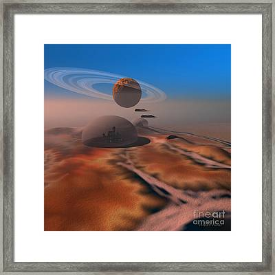 Amber Crest Framed Print by Corey Ford