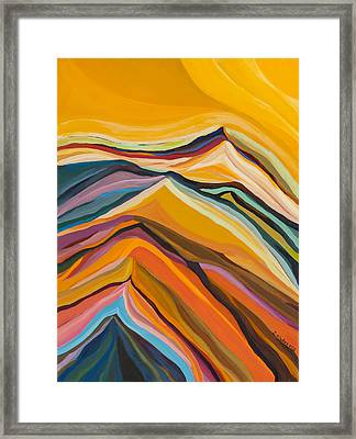Amber Crest  Framed Print