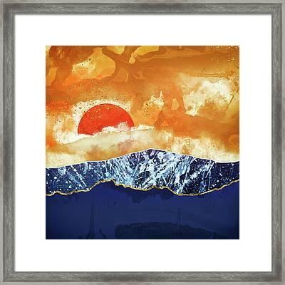 Amber Dusk Framed Print