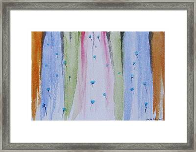 Framed Print featuring the painting Amber Edges by Trilby Cole