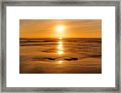 Amber Embers Framed Print