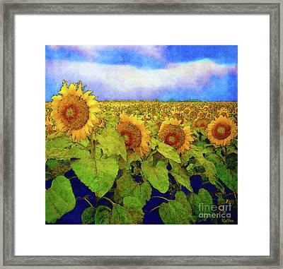 Amber Field Framed Print by KaFra Art