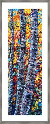 Amber Forest Framed Print