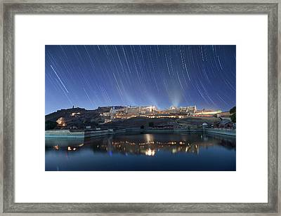 Framed Print featuring the photograph Amber Fort After Sunset by Pradeep Raja Prints