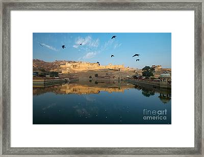 Framed Print featuring the photograph Amber Fort  by Yew Kwang