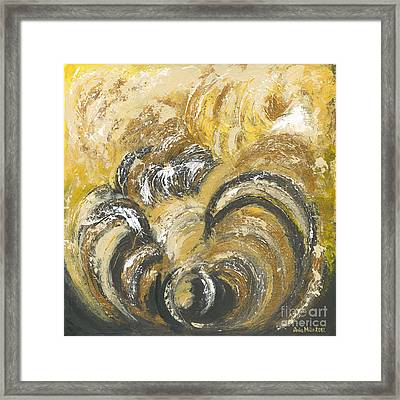 Amber Is The Color Of Your Energy Framed Print by Ania M Milo