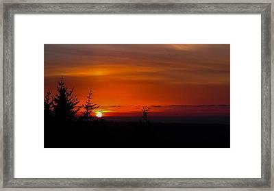Amber Night Sky Framed Print