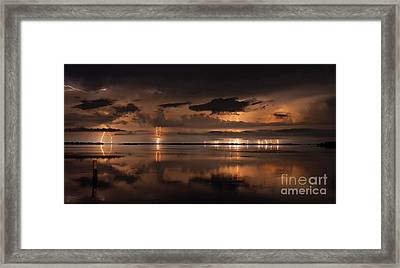Amber Nights Framed Print