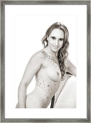Amber Nude Fine Art Print In Sensual Sexy 5155.01 Framed Print