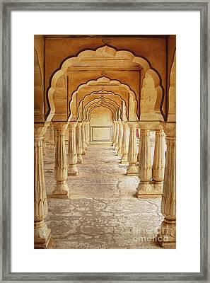 Amber Palace Framed Print