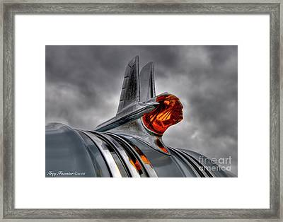 Framed Print featuring the photograph Amber Pontiac One by Trey Foerster