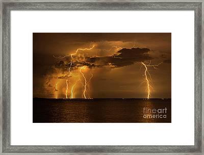 Amber Rain Framed Print