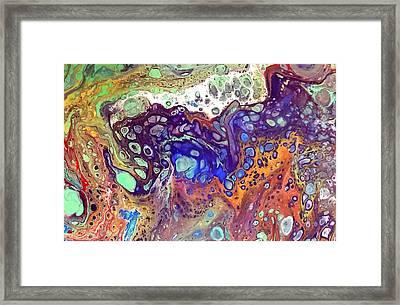 Amber Rave Framed Print