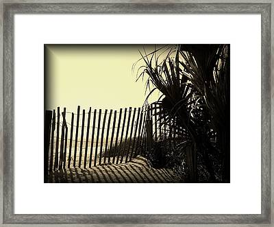 Amber Shadows Framed Print by Cheryl Viar