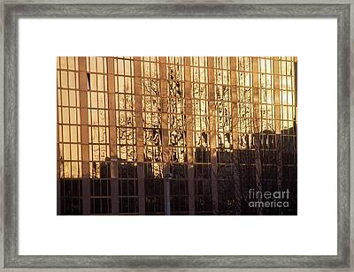Amber Window Framed Print