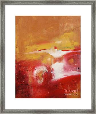 Ambers Rising Framed Print by Maria Curcic