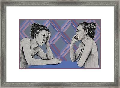 Ambiface 4 Framed Print by Jovana Kolic
