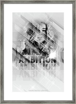 Ambition Framed Print by Marcus Bradley