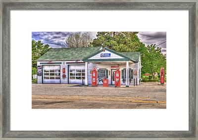 Ambler's Texaco Gas Station Framed Print