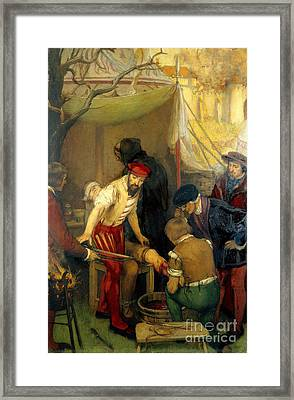 Ambroise Par�, Battlefield Leg Framed Print by Wellcome Images