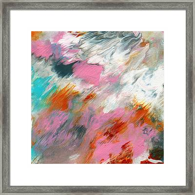 Ambrosia 2- Abstract Art By Linda Woods Framed Print