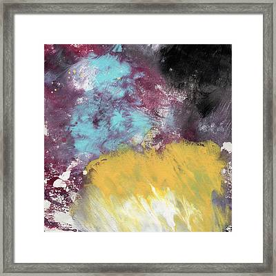 Ambrosia 5- Abstract Art By Linda Woods Framed Print