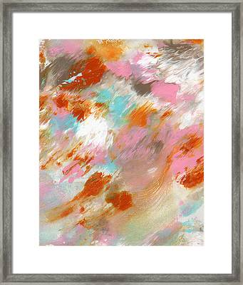 Ambrosia- Abstract Art By Linda Woods Framed Print