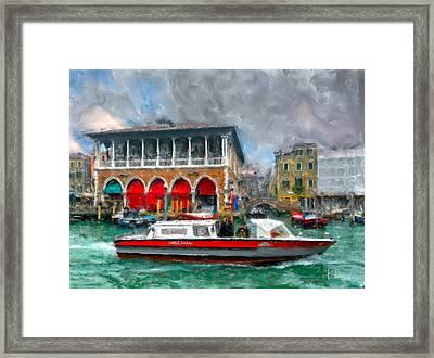 Framed Print featuring the photograph Ambulanza. Venezia by Juan Carlos Ferro Duque