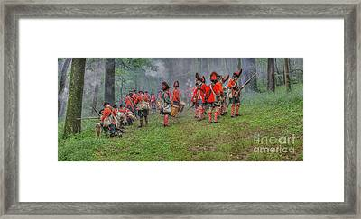 Ambush In The Forest Framed Print by Randy Steele