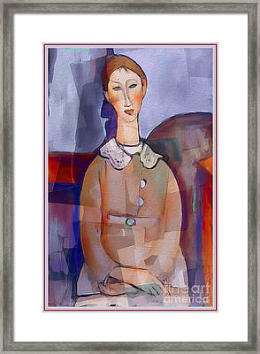 Amedeo Modigliani By Ante Barisic Framed Print by Ante Barisic