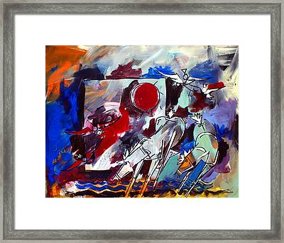 Ameeba 36-horses By The Sea 2 Framed Print