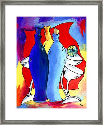 Ameeba 49- Bottles Framed Print