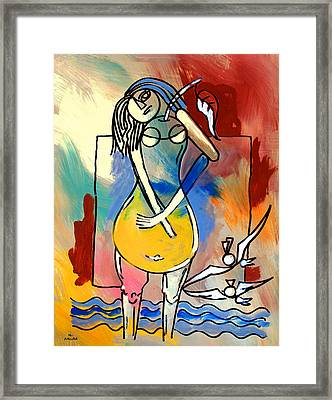Ameeba- Pear Woman Framed Print