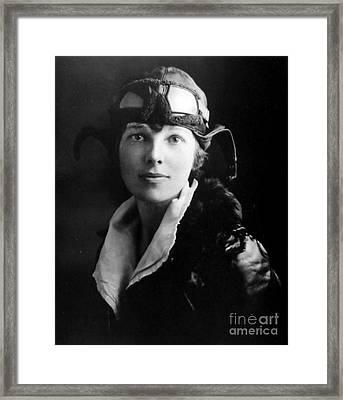 Amelia Earhart, American Aviatrix Framed Print