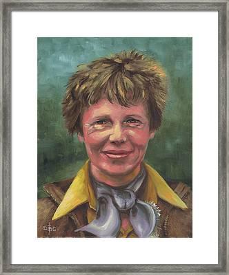 Amelia Earhart Framed Print
