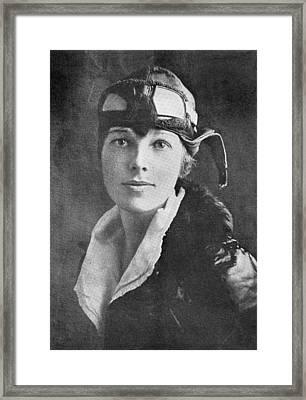 Amelia Earhart, Us Aviation Pioneer Framed Print