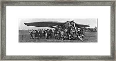 Amelia Earhart Washington Dc Airfield Framed Print