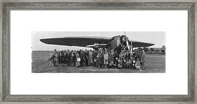 Amelia Earhart Washington Dc Airfield Framed Print by Panoramic Images