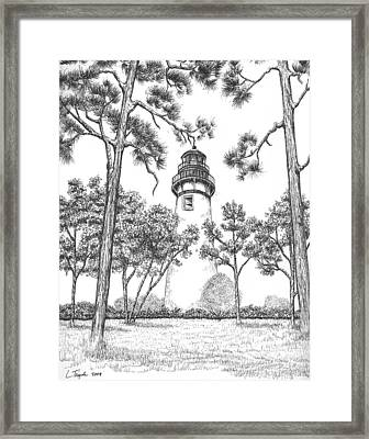 Amelia Island Lighthouse Framed Print by Lawrence Tripoli