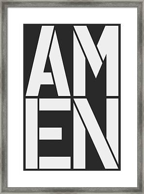 Amen-1 Framed Print