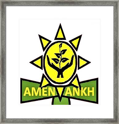 Amen Ankh Framed Print