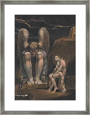 America. A Prophecy, Plate 1, Frontispiece Framed Print by William Blake