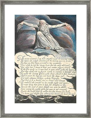 America A Prophecy, Plate 10,  Framed Print by William Blake