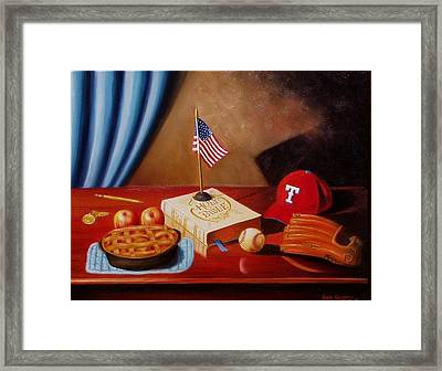 Framed Print featuring the painting America After School by Gene Gregory