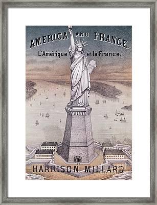 America And France Framed Print