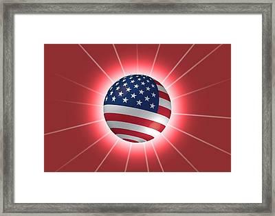 America-ball Framed Print