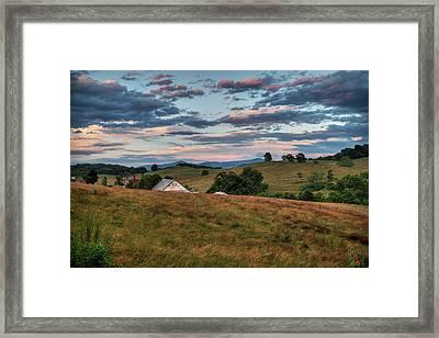America - Hills Of Virginia 001 Framed Print
